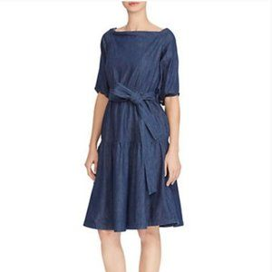 NWT! Lauren Ralph Lauren Amanthia denim dress